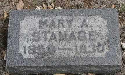 STANAGE, MARY A. - Yankton County, South Dakota | MARY A. STANAGE - South Dakota Gravestone Photos