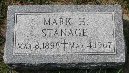 STANAGE, MARK H. - Yankton County, South Dakota | MARK H. STANAGE - South Dakota Gravestone Photos