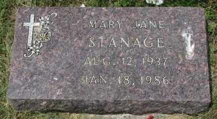 STANAGE, MARY JANE - Yankton County, South Dakota | MARY JANE STANAGE - South Dakota Gravestone Photos