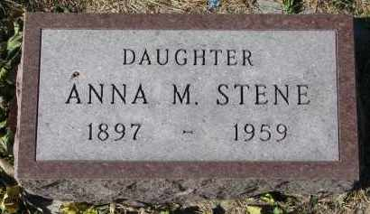 STENE, ANNA M. - Yankton County, South Dakota | ANNA M. STENE - South Dakota Gravestone Photos