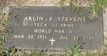 STEVENS, ARLIN E. (WW II) - Yankton County, South Dakota | ARLIN E. (WW II) STEVENS - South Dakota Gravestone Photos