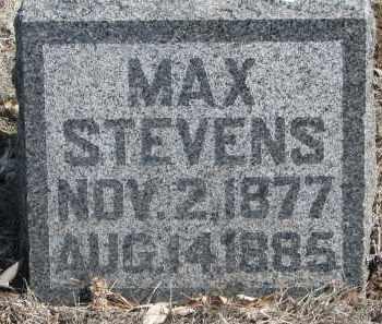 STEVENS, MAX - Yankton County, South Dakota | MAX STEVENS - South Dakota Gravestone Photos