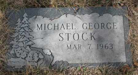 STOCK, MICHAEL GEORGE - Yankton County, South Dakota   MICHAEL GEORGE STOCK - South Dakota Gravestone Photos