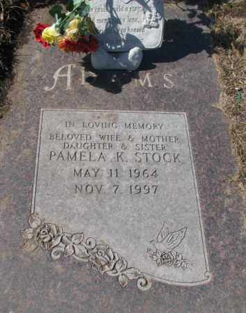 ADAMS STOCK, PAMELA K. - Yankton County, South Dakota | PAMELA K. ADAMS STOCK - South Dakota Gravestone Photos