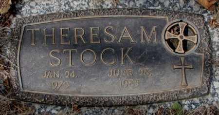 STOCK, THERESA M. - Yankton County, South Dakota   THERESA M. STOCK - South Dakota Gravestone Photos