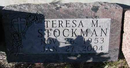 STOCKMAN, TERESA M. - Yankton County, South Dakota | TERESA M. STOCKMAN - South Dakota Gravestone Photos