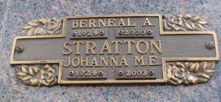 STRATTON, BERNEAL A. - Yankton County, South Dakota | BERNEAL A. STRATTON - South Dakota Gravestone Photos