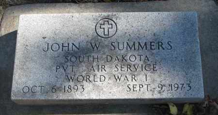 SUMMERS, JOHN W. - Yankton County, South Dakota | JOHN W. SUMMERS - South Dakota Gravestone Photos