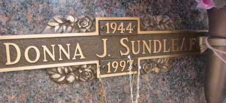 SUNDLEAF, DONNA J. - Yankton County, South Dakota   DONNA J. SUNDLEAF - South Dakota Gravestone Photos