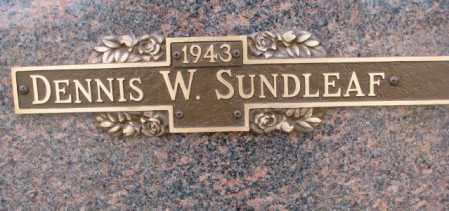 SUNDLEAF, DENNIS W. - Yankton County, South Dakota | DENNIS W. SUNDLEAF - South Dakota Gravestone Photos