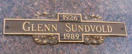 SUNDVOLD, GLENN - Yankton County, South Dakota | GLENN SUNDVOLD - South Dakota Gravestone Photos