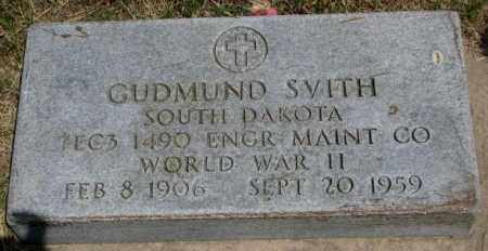SVITH, GUDMUND - Yankton County, South Dakota | GUDMUND SVITH - South Dakota Gravestone Photos
