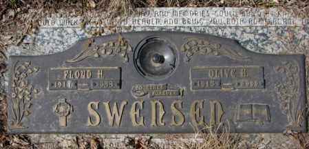 SWENSEN, OLIVE H. - Yankton County, South Dakota | OLIVE H. SWENSEN - South Dakota Gravestone Photos