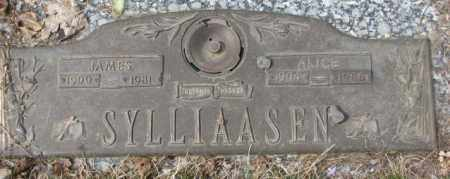 SYLLIAASEN, ALICE - Yankton County, South Dakota | ALICE SYLLIAASEN - South Dakota Gravestone Photos