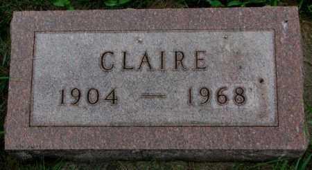 TAGUE, CLAIRE - Yankton County, South Dakota | CLAIRE TAGUE - South Dakota Gravestone Photos