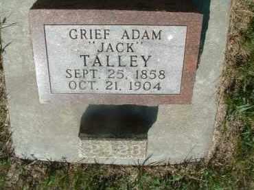 "TALLEY, ADAM ""JACK"" - Yankton County, South Dakota | ADAM ""JACK"" TALLEY - South Dakota Gravestone Photos"