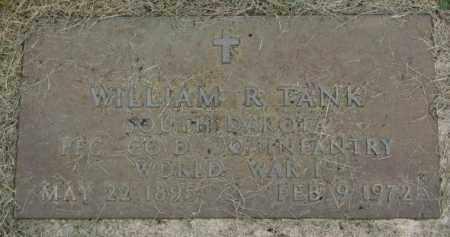 TANK, WILLIAM R. (WW 1) - Yankton County, South Dakota   WILLIAM R. (WW 1) TANK - South Dakota Gravestone Photos