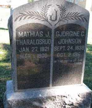 THARALDSRUD, GJORGINE C. - Yankton County, South Dakota | GJORGINE C. THARALDSRUD - South Dakota Gravestone Photos