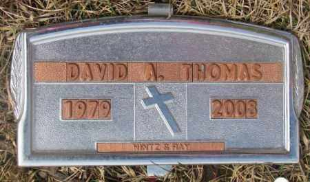THOMAS, DAVID A. - Yankton County, South Dakota | DAVID A. THOMAS - South Dakota Gravestone Photos