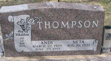 THOMPSON, NETA - Yankton County, South Dakota | NETA THOMPSON - South Dakota Gravestone Photos