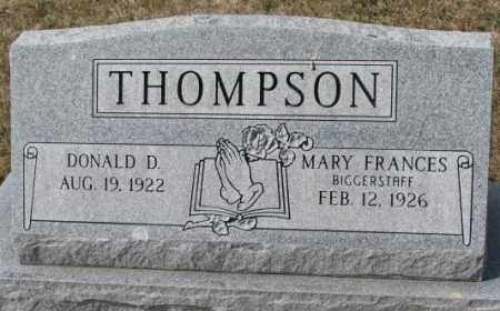 BIGGERSTAFF THOMPSON, MARY FRANCES - Yankton County, South Dakota | MARY FRANCES BIGGERSTAFF THOMPSON - South Dakota Gravestone Photos