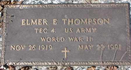 THOMPSON, ELMER E. - Yankton County, South Dakota | ELMER E. THOMPSON - South Dakota Gravestone Photos