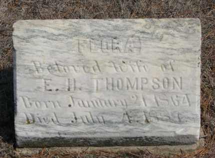 THOMPSON, FLORA - Yankton County, South Dakota | FLORA THOMPSON - South Dakota Gravestone Photos