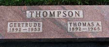 THOMPSON, THOMAS A. - Yankton County, South Dakota | THOMAS A. THOMPSON - South Dakota Gravestone Photos