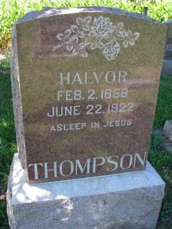 THOMPSON, HALVOR - Yankton County, South Dakota   HALVOR THOMPSON - South Dakota Gravestone Photos