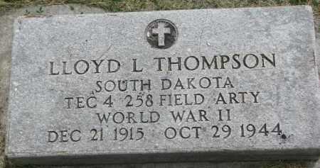 THOMPSON, LLOYD L. (WW II) - Yankton County, South Dakota | LLOYD L. (WW II) THOMPSON - South Dakota Gravestone Photos