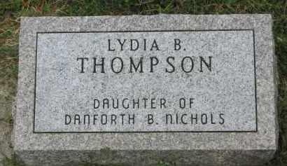 THOMPSON, LYDIA B. - Yankton County, South Dakota   LYDIA B. THOMPSON - South Dakota Gravestone Photos