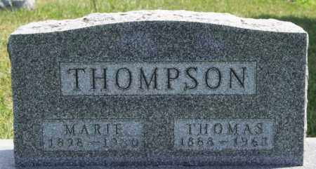 THOMPSON, MARIE - Yankton County, South Dakota | MARIE THOMPSON - South Dakota Gravestone Photos