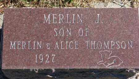 THOMPSON, MERLIN J. - Yankton County, South Dakota | MERLIN J. THOMPSON - South Dakota Gravestone Photos