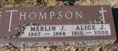 THOMPSON, MERLIN J. - Yankton County, South Dakota | MERLIN J. THOMPSON - South Dakota Gravestone Photos