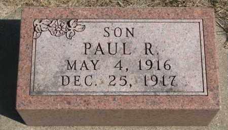 THOMPSON, PAUL R. - Yankton County, South Dakota   PAUL R. THOMPSON - South Dakota Gravestone Photos