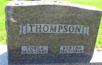 THOMPSON, TORGE - Yankton County, South Dakota | TORGE THOMPSON - South Dakota Gravestone Photos