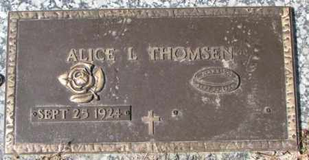 THOMSEN, ALICE L - Yankton County, South Dakota | ALICE L THOMSEN - South Dakota Gravestone Photos