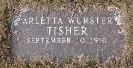 WURSTER TISHER, ARLETTA - Yankton County, South Dakota | ARLETTA WURSTER TISHER - South Dakota Gravestone Photos