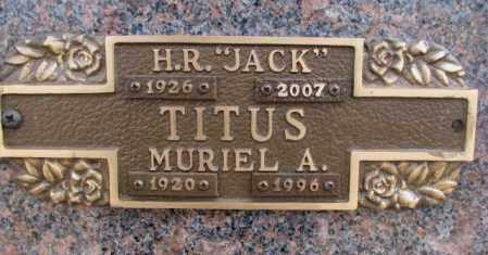 TITUS, MURIEL A. - Yankton County, South Dakota | MURIEL A. TITUS - South Dakota Gravestone Photos