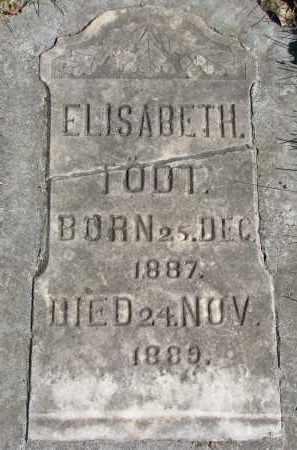 TODT, ELISABETH - Yankton County, South Dakota   ELISABETH TODT - South Dakota Gravestone Photos
