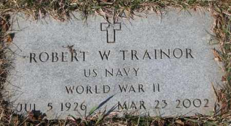 TRAINOR, ROBERT W. (WW II) - Yankton County, South Dakota | ROBERT W. (WW II) TRAINOR - South Dakota Gravestone Photos