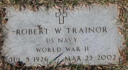 TRAINOR, ROBERT W. (WW II) - Yankton County, South Dakota   ROBERT W. (WW II) TRAINOR - South Dakota Gravestone Photos