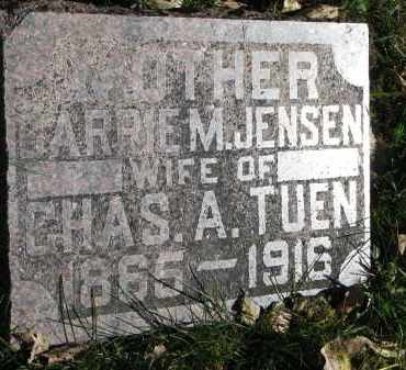 JENSEN TUEN, CARRIE M. - Yankton County, South Dakota | CARRIE M. JENSEN TUEN - South Dakota Gravestone Photos