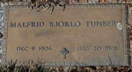 TUNBERG, MALFRID - Yankton County, South Dakota   MALFRID TUNBERG - South Dakota Gravestone Photos