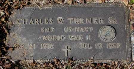 TURNER, CHARLES W. SR. - Yankton County, South Dakota   CHARLES W. SR. TURNER - South Dakota Gravestone Photos