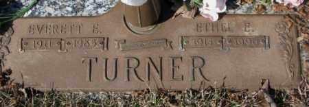 TURNER, EVERETT E. - Yankton County, South Dakota   EVERETT E. TURNER - South Dakota Gravestone Photos