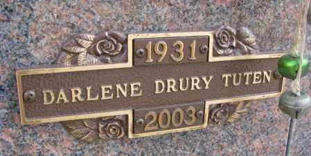 TUTEN, DARLENE - Yankton County, South Dakota | DARLENE TUTEN - South Dakota Gravestone Photos
