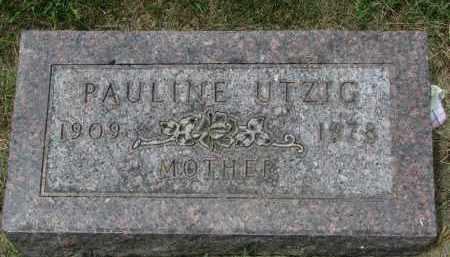 UTZIG, PAULINE - Yankton County, South Dakota | PAULINE UTZIG - South Dakota Gravestone Photos