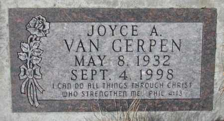 VAN GERPEN, JOYCE A. - Yankton County, South Dakota | JOYCE A. VAN GERPEN - South Dakota Gravestone Photos