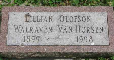 VAN HORSEN, LILLIAN - Yankton County, South Dakota | LILLIAN VAN HORSEN - South Dakota Gravestone Photos